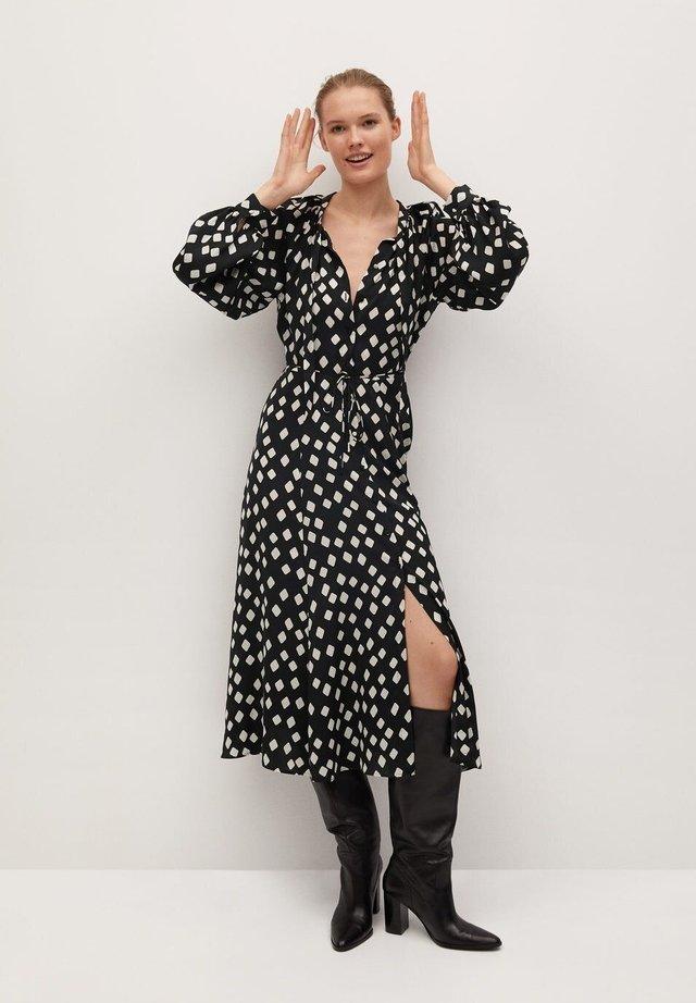 EN IMPRIMÉ GÉOMÉTRIQUE - Day dress - noir