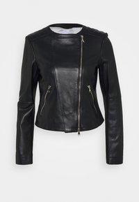 Patrizia Pepe - REAL JACKET - Leather jacket - nero - 5