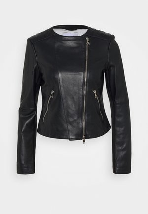 REAL JACKET - Veste en cuir - nero