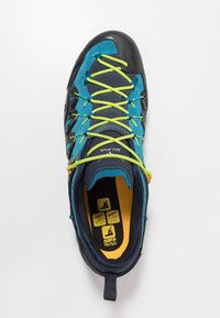 Salewa - MS WILDFIRE EDGE - Climbing shoes - premium navy/fluo yellow - 1