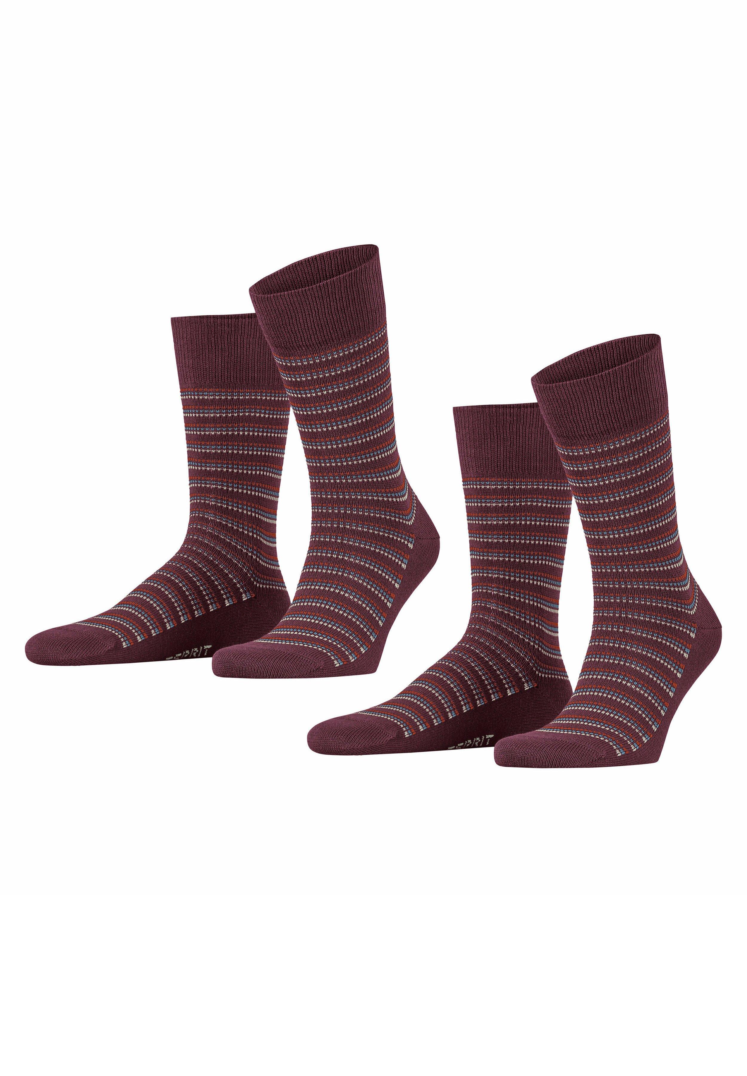 Herren PIQUÉ STRIPE 2-PACK - Socken