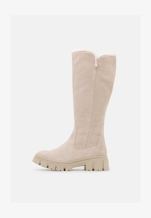 Platform boots - antelope