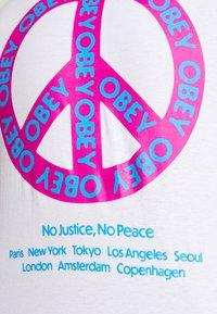Obey Clothing - PEACE - Basic T-shirt - white - 4