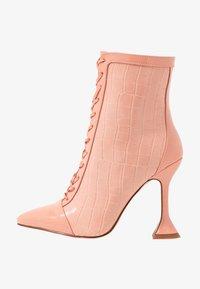 KEONA - Kotníková obuv na vysokém podpatku - blush