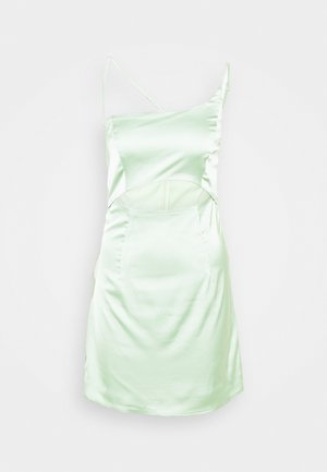 ONE SHOULDER STRAPPY CUT OUT MINI DRESS - Cocktail dress / Party dress - sage