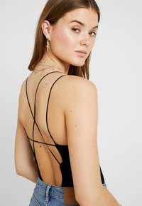 BDG Urban Outfitters - THONG STRAPPY BACK BODYSUIT - Top - black - 3