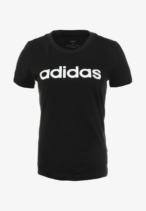 ESSENTIALS SPORTS SLIM SHORT SLEEVE TEE - T-shirt con stampa - black/white