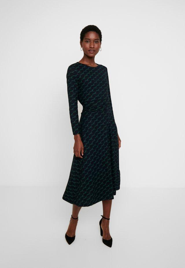 MIDI BAYVIEW DRESS - Denim dress - nav/ green