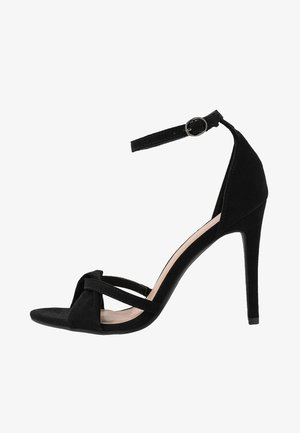 Sandály na vysokém podpatku - black