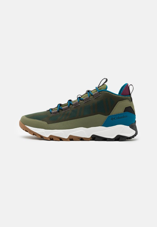 FLOWBOROUGH LOW - Zapatillas de senderismo - hiker green/lagoon