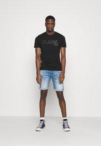 G-Star - RAW LOGO SLIM  - T-shirt med print - black - 1