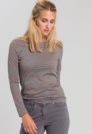 Long sleeved top - grey melange varied