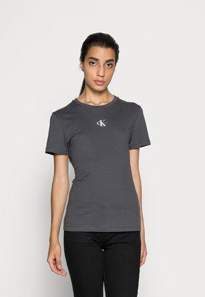 MICRO MONOGRAM  - T-shirt basic - gray pinstripe