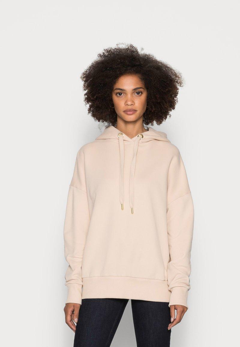 Rich & Royal - ORGANIC FELPA HOODIE - Sweatshirt - beige