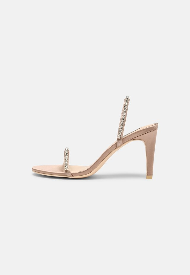 SPECIAL OCCASION - Heeled mules - champagne
