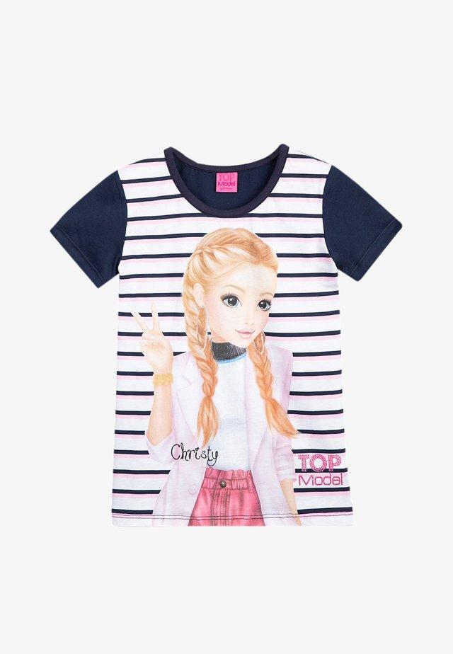 Print T-shirt - navy blazer