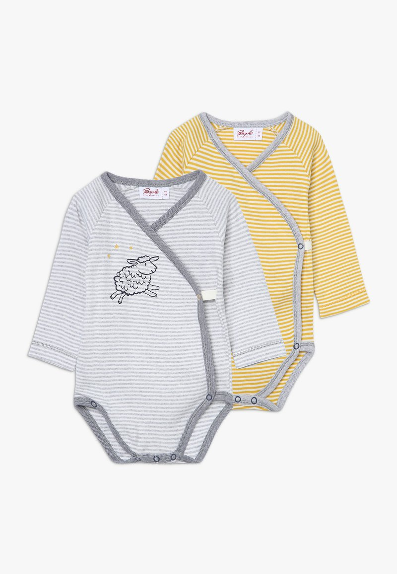 People Wear Organic - BABY 2 PACK - Body - grau