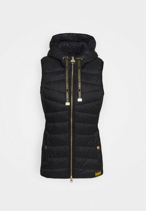 B.INTL GRID GILET - Waistcoat - black