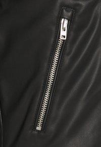 Abercrombie & Fitch - BIKER - Faux leather jacket - black - 2