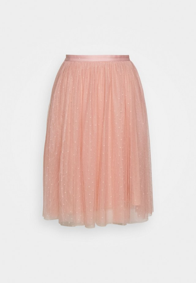 KISSES MIDI SKIRT EXCLUSIVE - Jupe trapèze - desert pink