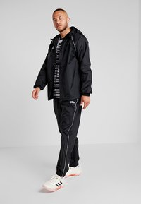 adidas Performance - CORE ELEVEN FOOTBALL JACKET - Veste Hardshell - black/white - 1