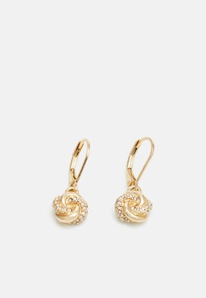 PAVE KNOT DROP - Earrings - gold-coloured
