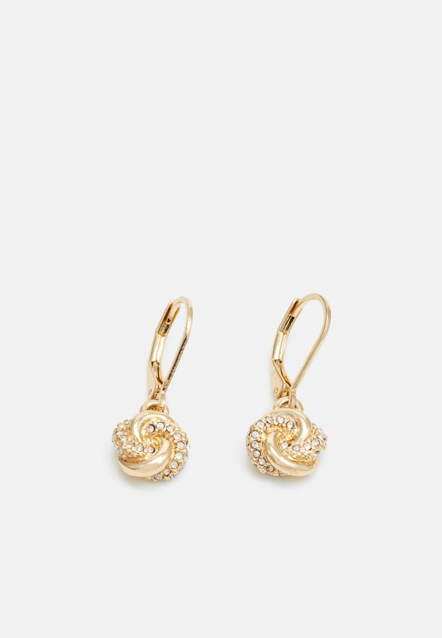 PAVE KNOT DROP - Øreringe - gold-coloured