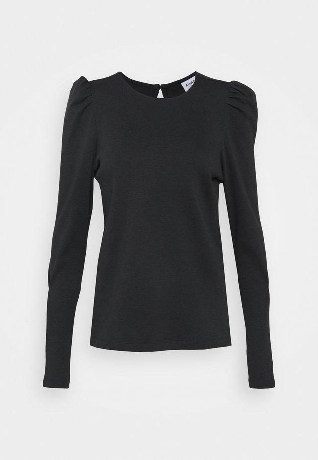 VMNOREEN O NECK BLOUSE - Camiseta de manga larga - black