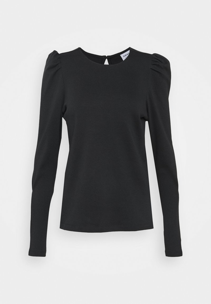 Vero Moda Tall - VMNOREEN O NECK BLOUSE - Camiseta de manga larga - black