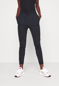 Even&Odd Tall - SLIM FIT JOGGERS - Pantalon de survêtement - black - 0