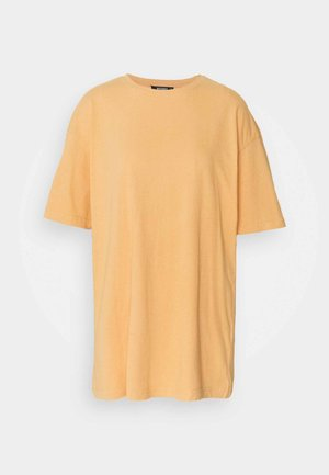 WASHED OVERSIZE TEE - Jednoduché triko - orange