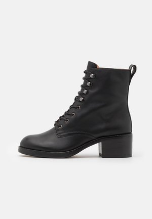 PATTI LACE UP BOOT - Lace-up ankle boots - true black