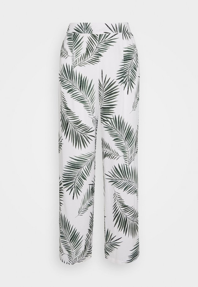 FIA PANTS - Broek - sea green leaves combi