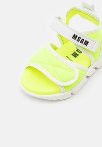 MSGM - UNISEX - Sandals - neon yellow - 5