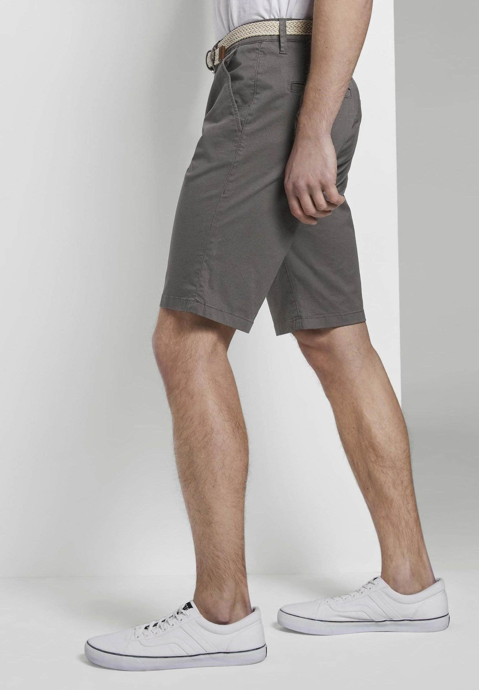 Tom Tailor Denim Shorts - Grey Mini Zig Zag Design