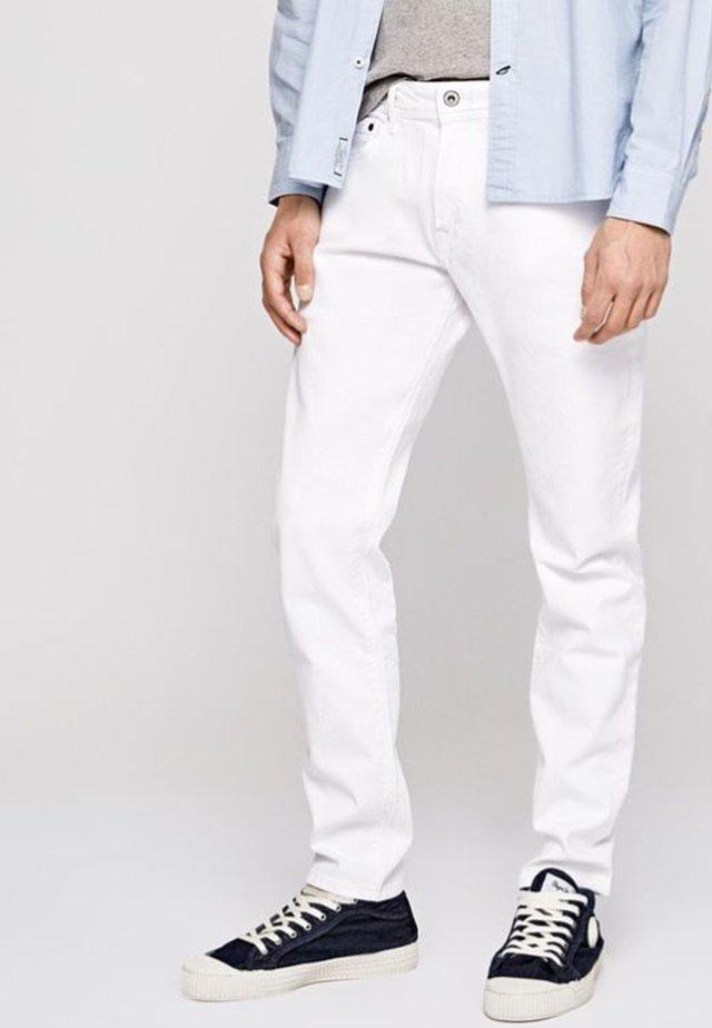 STANLEY - Vaqueros slim fit - white