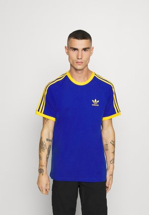 3 STRIPES TEE UNISEX - T-shirt z nadrukiem - royblu/actgol