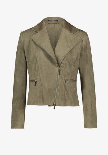 Faux leather jacket - olive