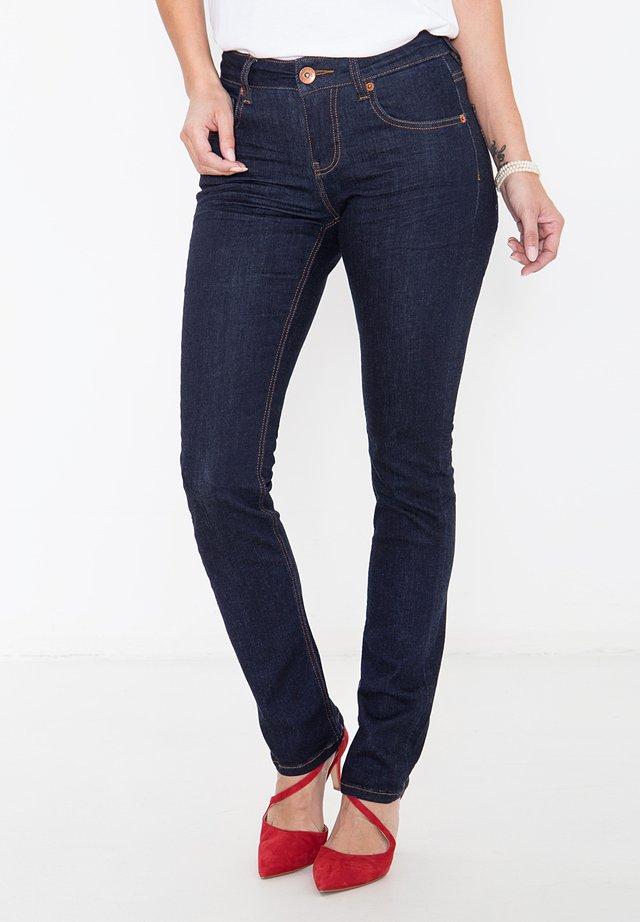 MIT ZIERS - Slim fit jeans - rinsed
