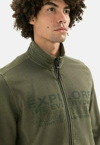 camel active - Zip-up sweatshirt - olive brown - 3