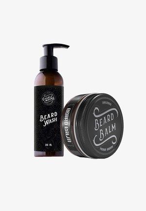 BARTBALSAM & BARTSHAMPOO CLEAN WHISKERS HACK - Barbersæt - beige / transparent
