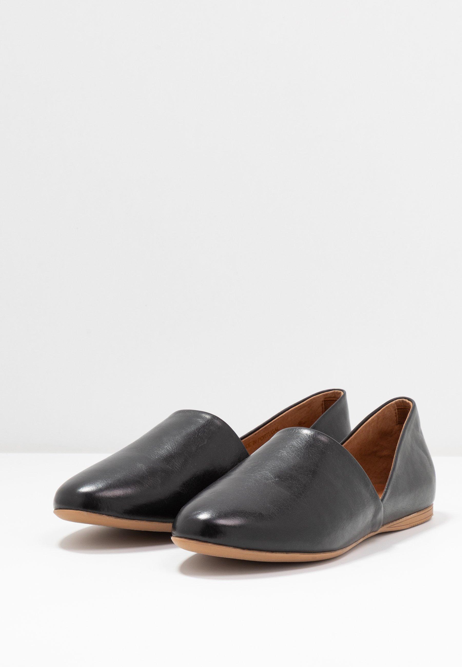 Anna Field LEATHER SLIP-ONS Slip-ins black