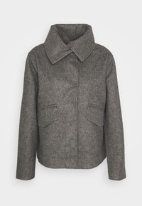 JDY - JDYTEA SHORT JACKET - Light jacket - dark grey melange - 3