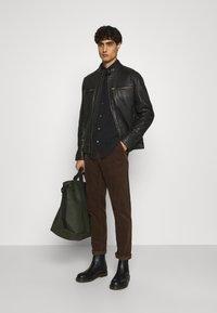 Lindbergh - LEATHER JACKET - Leather jacket - black - 1