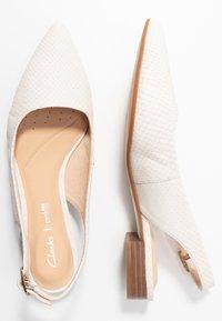 Clarks - LAINA - Slingback ballet pumps - white - 3