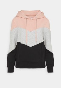 ONLY - ONLPEAR BLOCKING HOOD - Hoodie - misty rose/black - 0