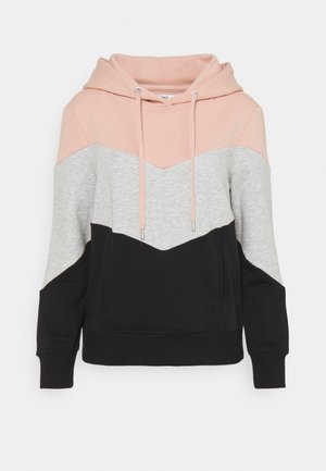 ONLPEAR BLOCKING HOOD - Hoodie - misty rose/black