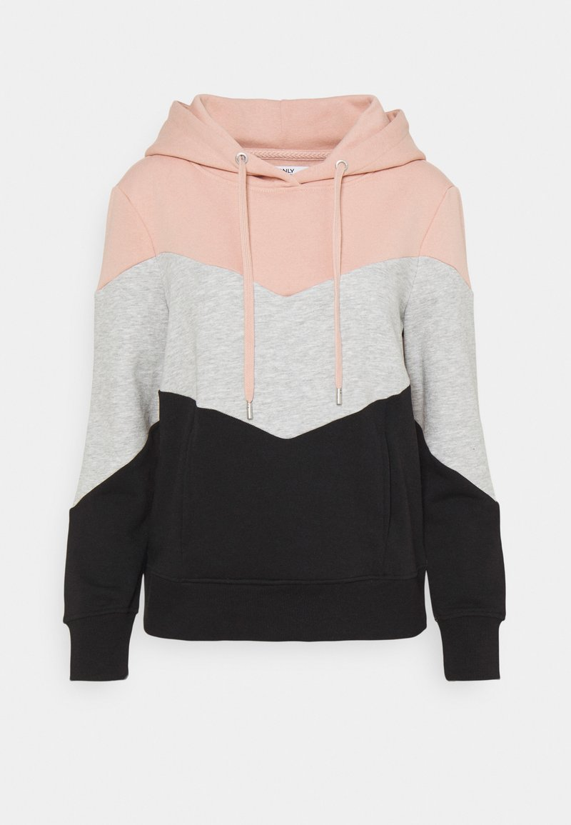 ONLY - ONLPEAR BLOCKING HOOD - Hoodie - misty rose/black