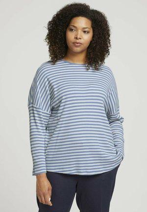CURVY - GESTREIFTES MIT BIO - Long sleeved top - blue creme stripe