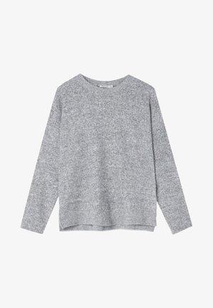 MIT RUNDAUSSCHNITT - Collegepaita - grey